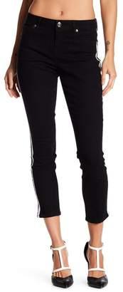 Seven7 Racing Stripe Ankle Skinny Jeans