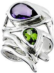 Hagit Sterling Amethyst & Peridot Ring