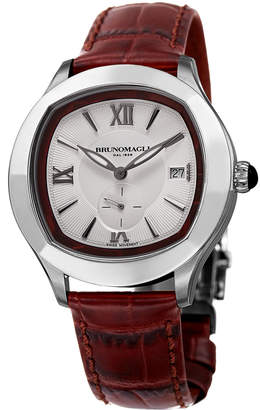 Bruno Magli Men's 42mm Amadeo Watch w/ Crocodile Strap