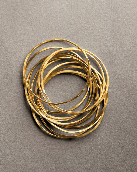 Rebecca Norman Heavy Gold Bangles, Set of 6