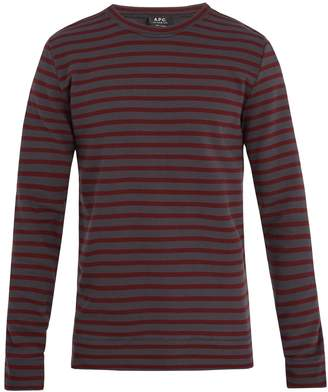 A.P.C. Joseph striped cotton sweatshirt