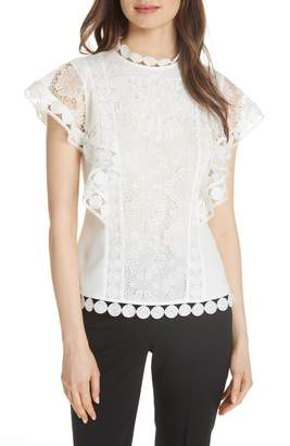 Ted Baker High Neck Lace Front Top