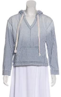 Current/Elliott Striped Hooded Sweatshirt