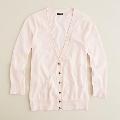 Featherweight cotton cardigan