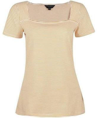 Dorothy Perkins Womens Ivory And Yellow Square Neck T-Shirt
