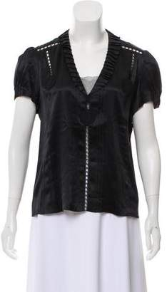 Marc by Marc Jacobs Silk Pleated Blouse