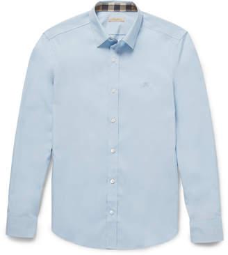 Burberry Brit Cotton-Poplin Shirt $265 thestylecure.com
