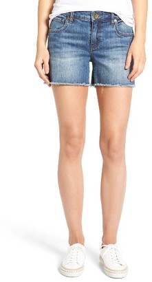 Petite Women's Kut From The Kloth Gidget Denim Shorts $69 thestylecure.com