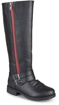 Co Brinley Womens Knee-High Side-Zipper Buckle Riding Boot