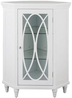 ELEGANT 32H Cassini Corner Floor Cabinet with 2 adjustable tempered glass shelves