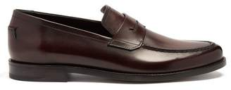 Berluti - Gianni Sapienza Leather Loafers - Mens - Burgundy