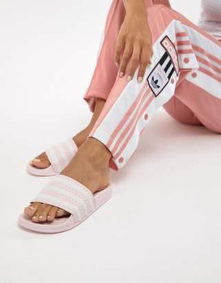 adidas Adilette Slider Sandals In Pink