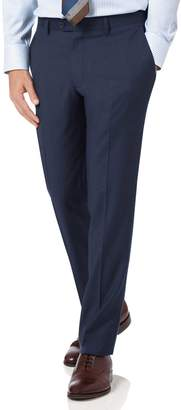 Charles Tyrwhitt Mid Blue Slim Fit Twill Business Suit Wool Pants Size W32 L30