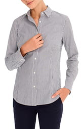 J.Crew Perfect Stripe Curvy Slim Stretch Shirt