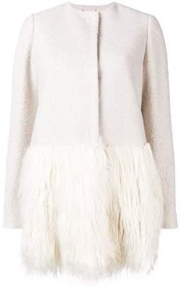 Blugirl contrast panel coat