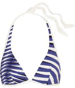 Op-Art Printed Triangle Bikini Top