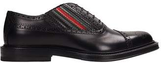Gucci Black Leather Lace Up