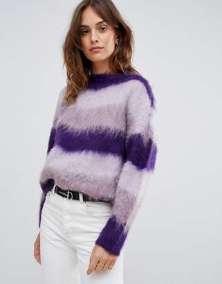 Vila Fluffy Stripe Sweater