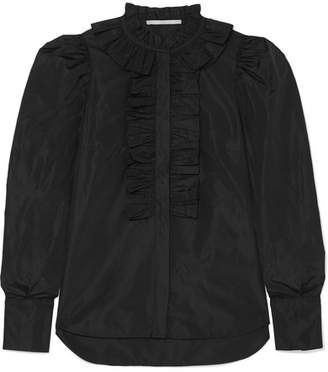 Stella McCartney Ruffled Taffeta Shirt - Black