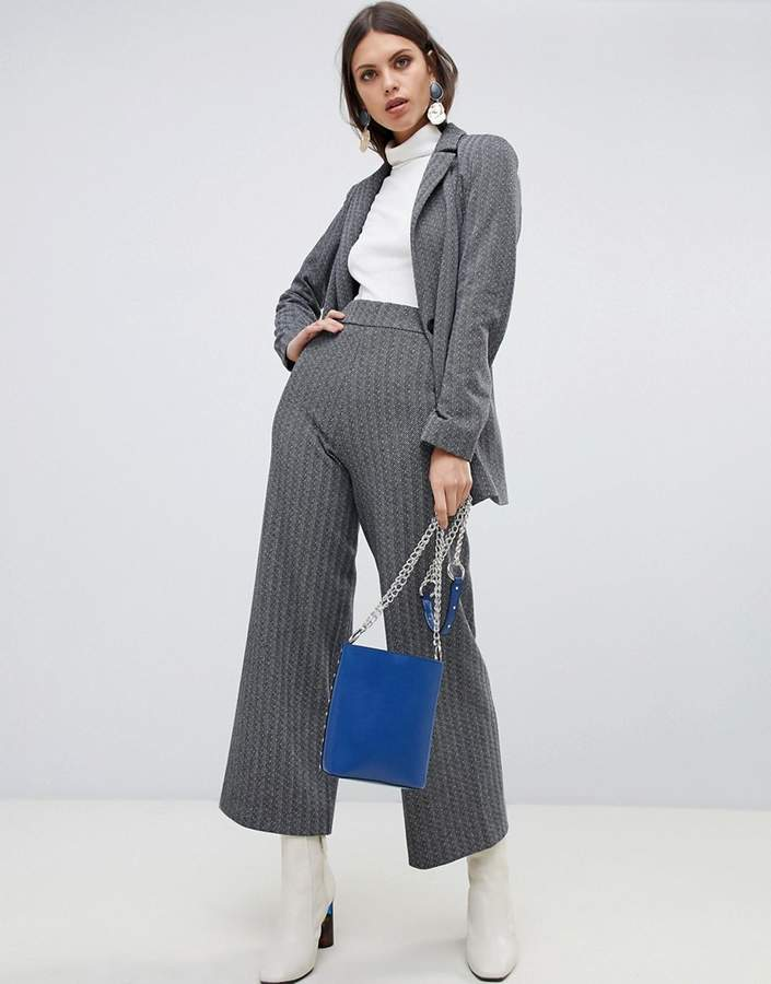Emme Herringbone Jersey Cropped Trousers