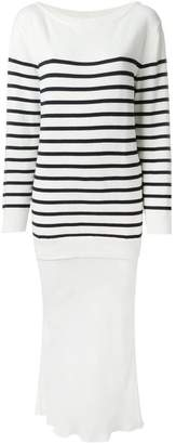 Alexander Wang striped knit layered dress