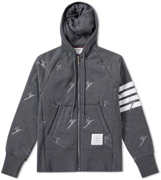 Thom Browne Skier Embroidery Quilted Hoody
