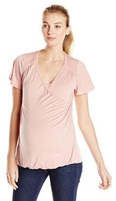 Maternal America Women's Maternity Flutter Sleeve Nursing Top