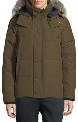 Canada Goose Men's Wyndham Fusion-Fit Down Parka with Fur-Trim Hood