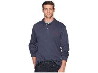 U.S. Polo Assn. Long Sleeve Solid Small Pony Interlock Polo Shirt Men's Long Sleeve Pullover