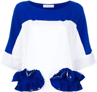 Capucci ruffle-appliquéd colour-block T-shirt