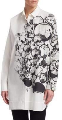 Akris Punto Cotton Mirror Print Tunic