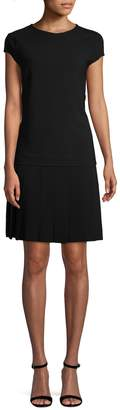Carolina Herrera Women's Pleated Wool-Blend Dress