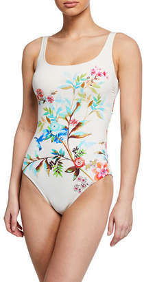 Johnny Was Plus Plus Size Lei Floral One-Piece Swimsuit