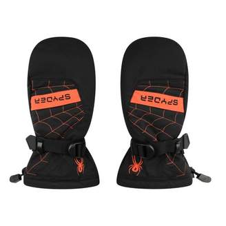 Spyder SpyderBoys Black & Orange Overweb Ski Mittens