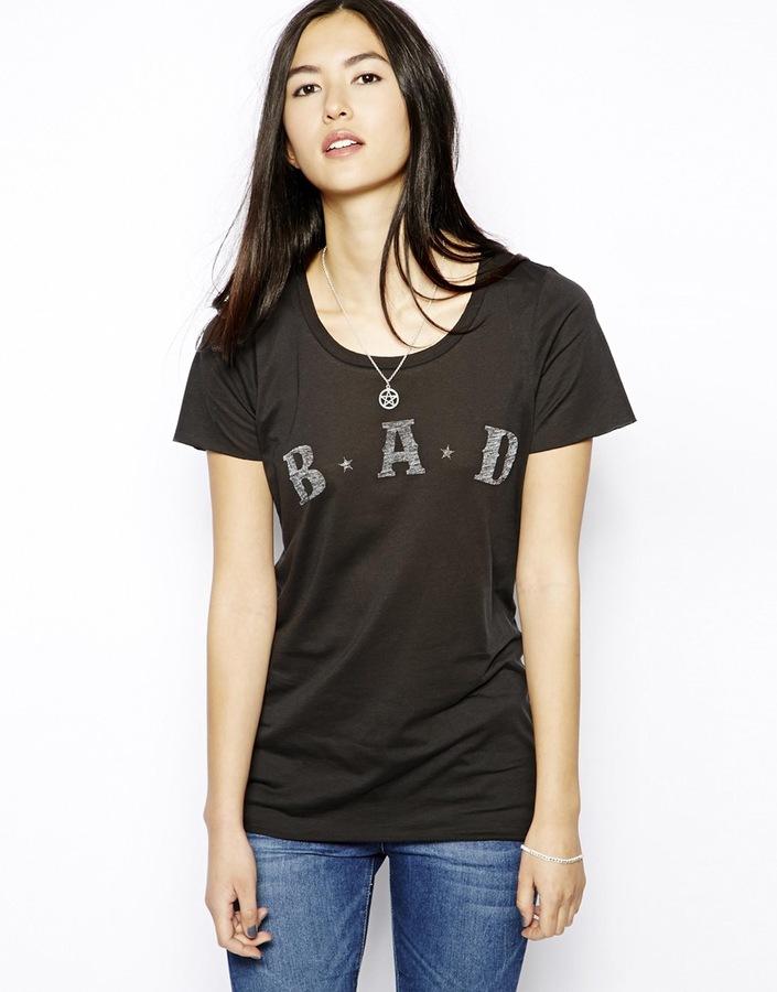 Zoe Karssen B.A.D Loose Fit Short Sleeve T-Shirt - Black