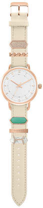 Decree Stackable Charms Womens Strap Watch-Pts2802rgiv