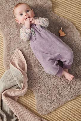 Next Girls Lilac Bunny Dungarees And Bodysuit Set (0mths-2yrs) - Purple