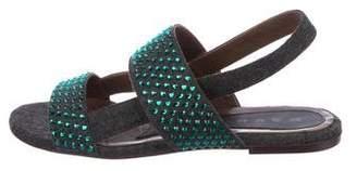 Marni Embellished Woven Sandals