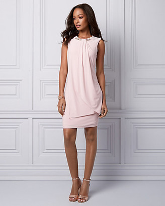 Le Château Pearl Embellished Knit Cocktail Dress