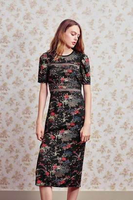 Urban Outfitters Emma Marie Lace Trim Midi Dress
