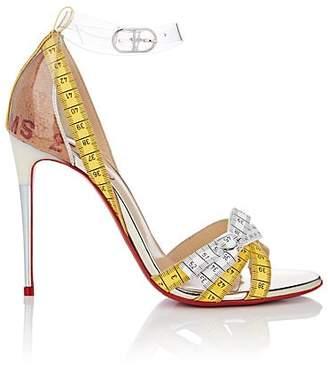 Christian Louboutin Women's Metrisandal Patent Leather & PVC Sandals - Vers Transp, Yellow