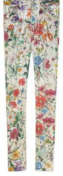 Gucci Super skinny pant with Flora print