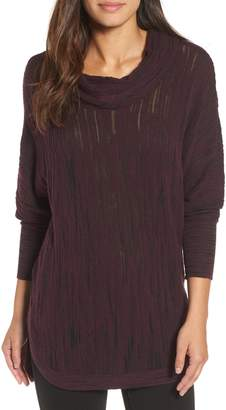 Nic+Zoe Cowl Neck Open Stitch Sweater