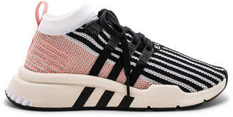 adidas EQT Support Mid in White & Black & Trace Pink | FWRD