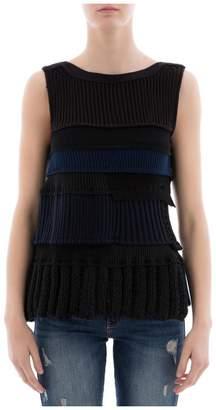 Sacai (サカイ) - Black Cotton Sweatshirt