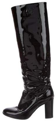 Chanel CC Knee-High Boots