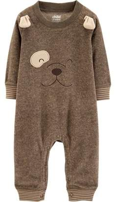 Carter's Child of Mine by Long Sleeve Bear Footless Fleece Romper (Baby Boys)
