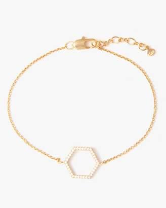 7 For All Mankind Hexagon Bracelet in Gold
