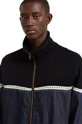 Telfar Drop Shoulder Denim Jacket