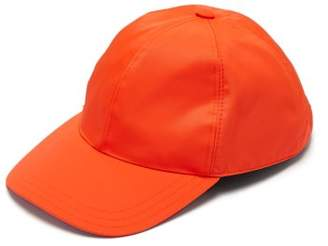 Prada Logo Plaque Baseball Cap - Mens - Orange
